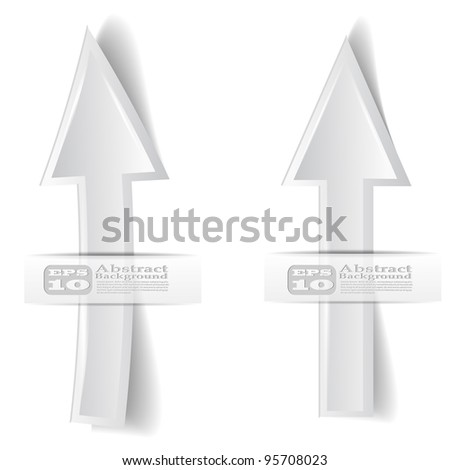 vector illustration of two white arrow on white background