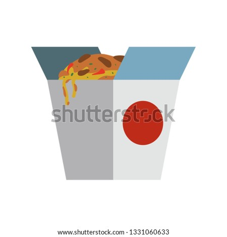 Vector illustration of udon