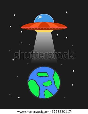 vector illustration of ufo