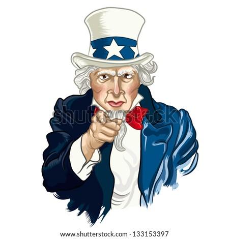 Vector illustration of Uncle Sam Zdjęcia stock ©