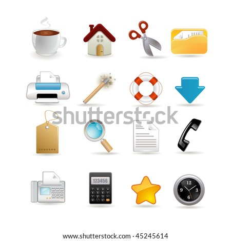 Vector illustration of universal set of icons