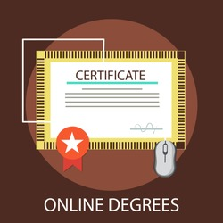 Vector illustration of university & education concept with