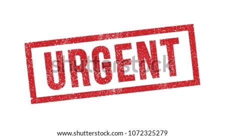 Vector illustration of Urgent red ink stamp Stockfoto ©