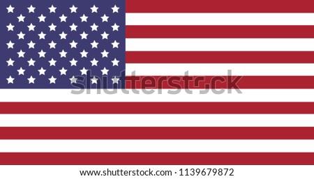 Vector illustration of US national flag.