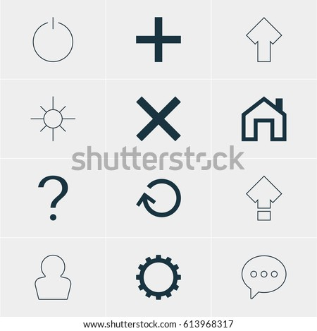 vector illustration of 12 user