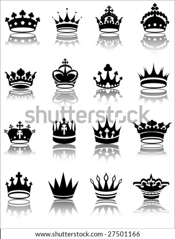 Crown Tattoos on Vector Illustration Of Various Crown Designs   27501166   Shutterstock