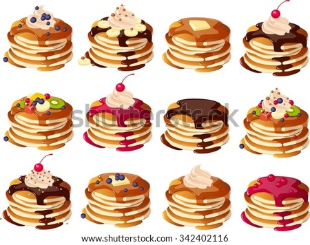 Vector pancakes download free vector art stock graphics images users who downloaded this file also downloaded ccuart Image collections