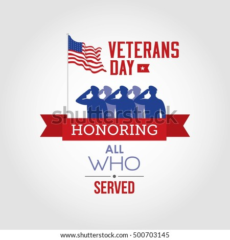 vector illustration of veterans