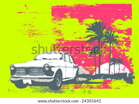 vector illustration of vintage
