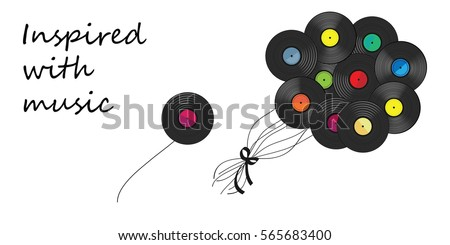 vector illustration of vinyl