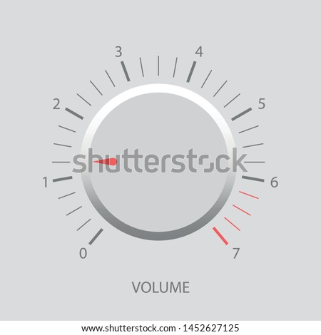 Vector illustration of volume control, volume switch, volume control interface element