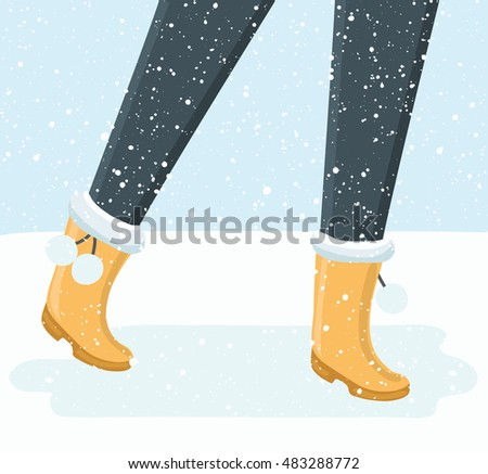 vector illustration of walking