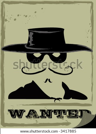 vector illustration of wanted