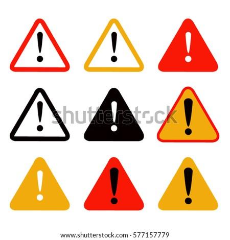 vector illustration of warning