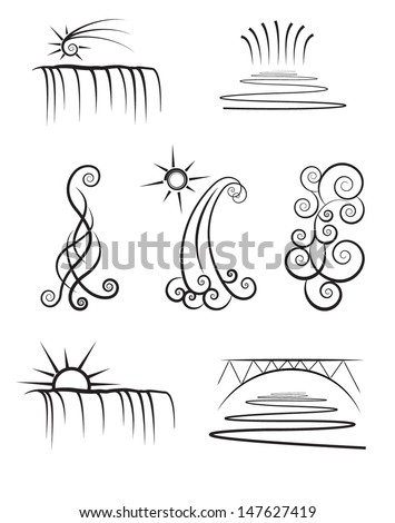 vector illustration of water...