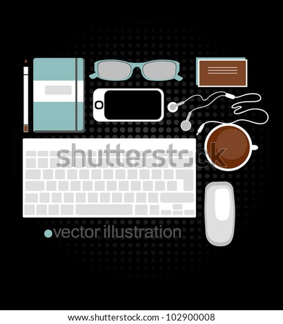 vector illustration of web designer tools