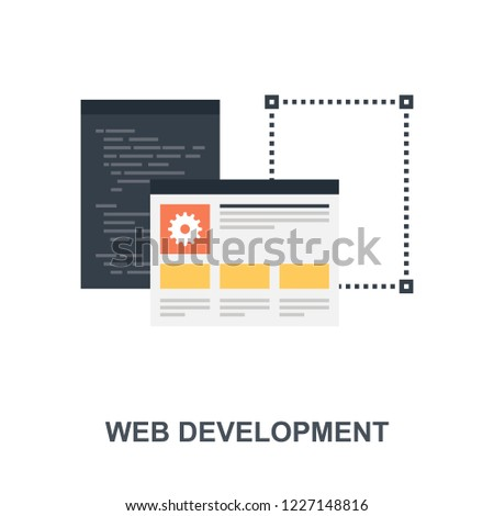Vector illustration of web development flat design concept.
