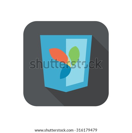 vector illustration of web development shield sign php framework yii. isolated icon on white background