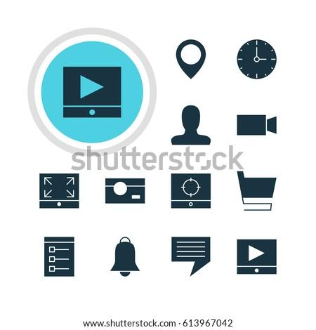 vector illustration of 12 web