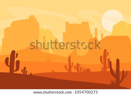 vector illustration of western