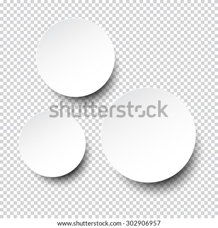 Vector illustration of white blank paper round speech bubble. Eps10.  #302906957