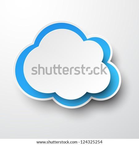 Shutterstock Vector illustration of white paper cloud. Eps10.