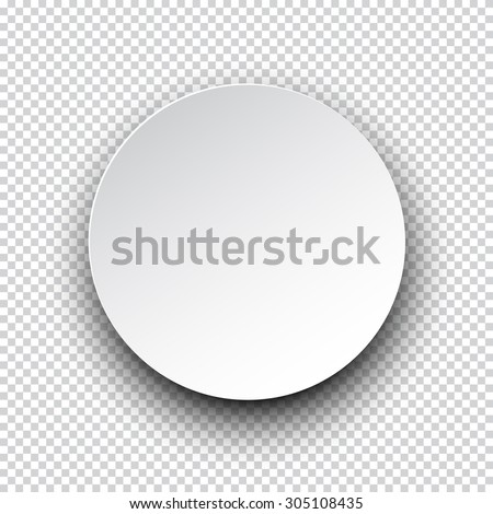 Vector illustration of white paper round speech bubble with shadow. Eps10. #305108435