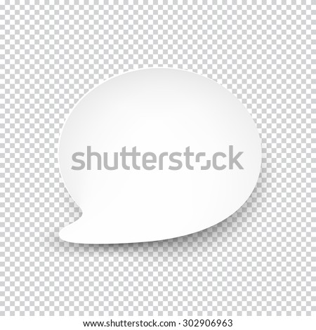 Vector illustration of white paper rounded speech bubble with shadow. Eps10. #302906963