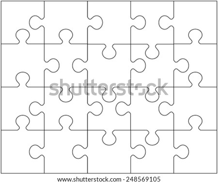 Vector Illustration Of White Puzzle 2 Separate Pieces 248569105