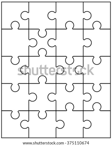 Royalty Free Jigsaw Puzzle Blank Template Or Cutting 374607973