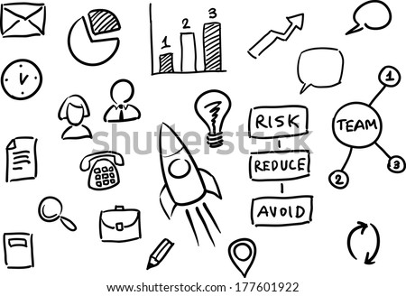 Vector illustration of whiteboard business presentation for Easy whiteboard drawings