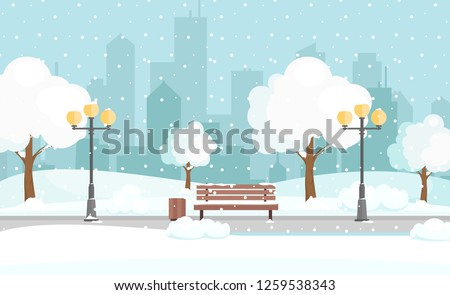 vector illustration of winter