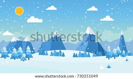 vector illustration of winter