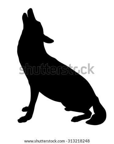 vector illustration of wolf