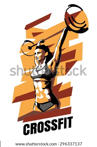 vector illustration of woman