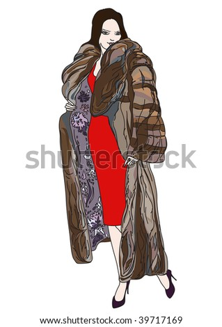 vector illustration of woman in