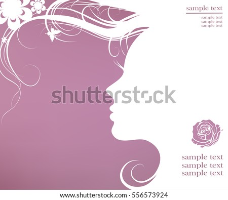 vector illustration of woman's