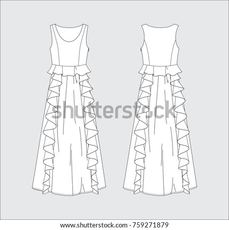 vector illustration of women's