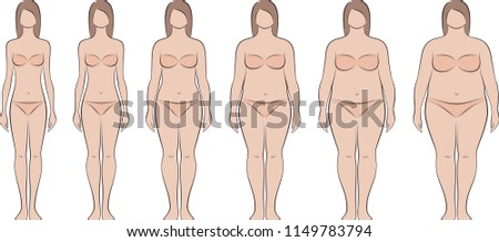 vector illustration of women's