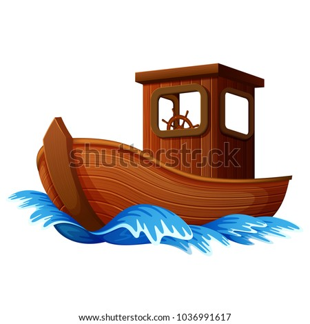 vector illustration of wooden