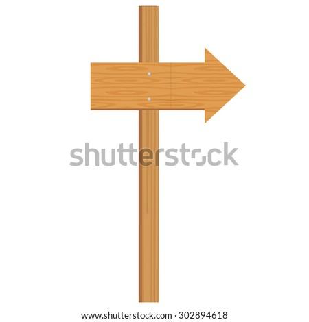 vector illustration of wooden