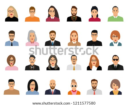 Vector illustration of working people characters of flat people design.