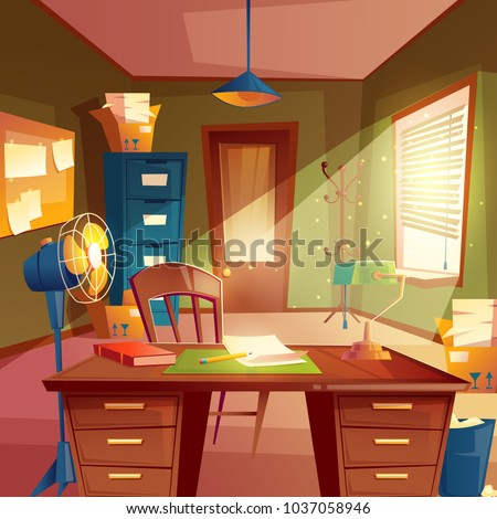 vector illustration of working