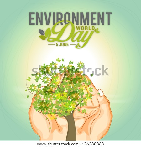 Vector  illustration of  World Environment Day.
