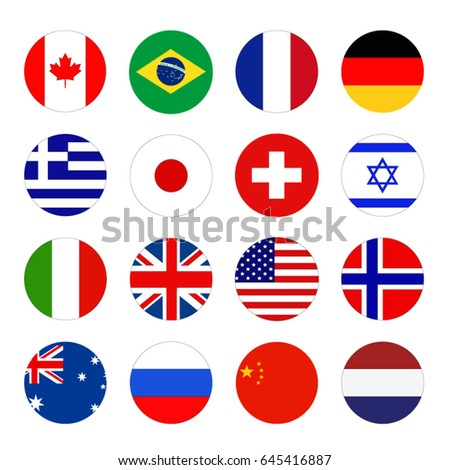 vector illustration of World flags #645416887
