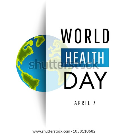 Vector Illustration of World health day concept  Vector Illustration