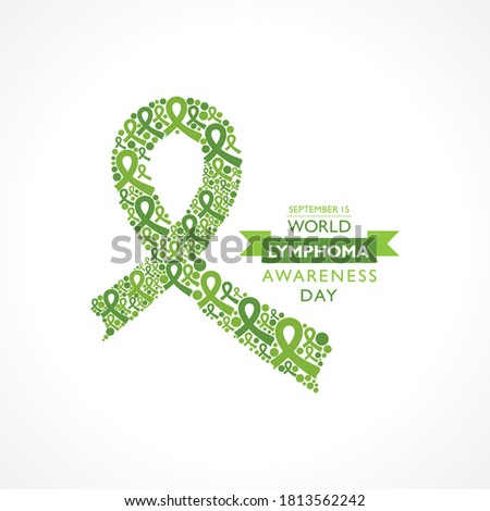 Vector illustration of World Lymphoma Awareness Day observed on September 15th Stock photo ©