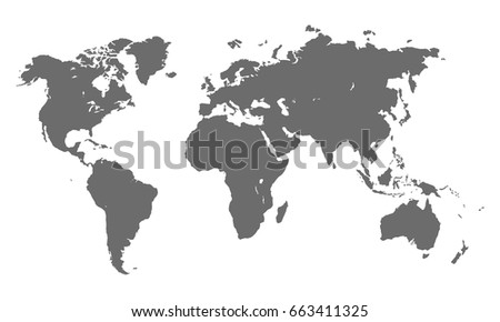 Vector illustration of world map isolated on white background #663411325