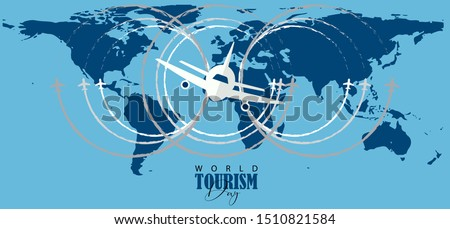 vector illustration of World Tourism Day.