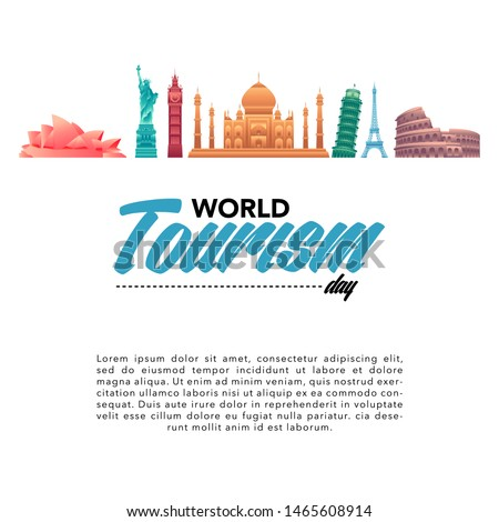 vector illustration of world tourism day. travel concept vector illustration